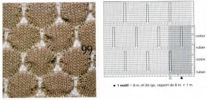 Схема вязания сот спицами